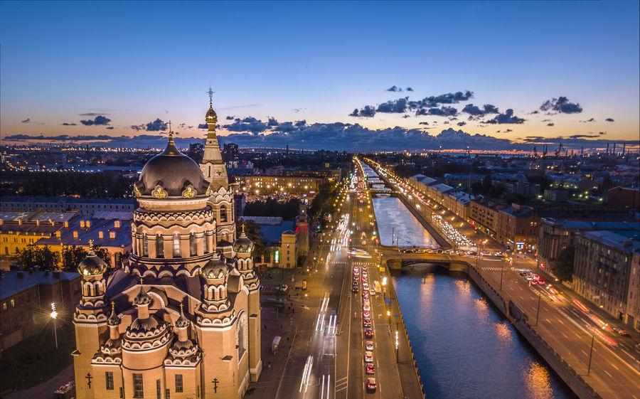 Church of resurrection in Saint Petersburg taken at night Blue Hour Church Russia Saint Petersburg Architecture Bridge Building Building Exterior City Citylights Cityscape cityscapes Dronephotography Night No People Place Of Worship Religion River Sky Travel Destinations Water