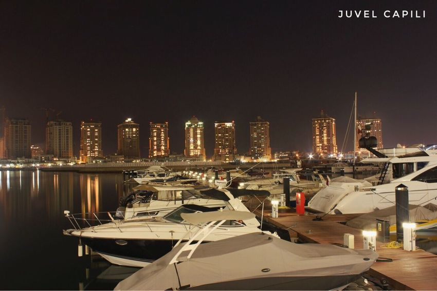 Night Illuminated Building Exterior Architecture Built Structure Moored No People Outdoors Nautical Vessel Clear Sky Sky City Nature