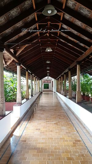 The walkway to heaven ... Hotel Interiors Trip With Friends India Travel Diaries Kerala India Besties Wedding Photographers On The Loose Architectural Detail Walkaway CGH Casino Hotels Paradise