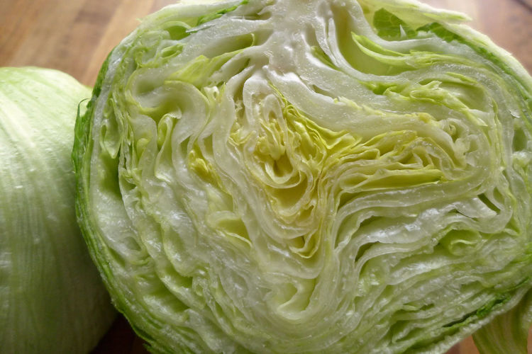 Close-up Detail Eisbergsalat Food Freshness Full Frame Green Green Color Lettuce No People Organic Pattern Still Life