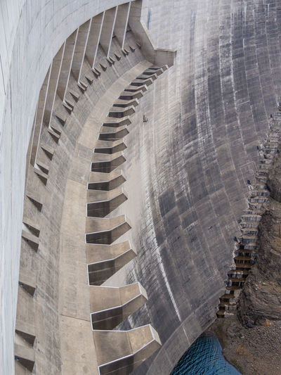 Hydroelectric Power Hydro Power Dam Hydro Power Plant Lesotho Katsedam Katse Dam African Africa Mountains Concrete