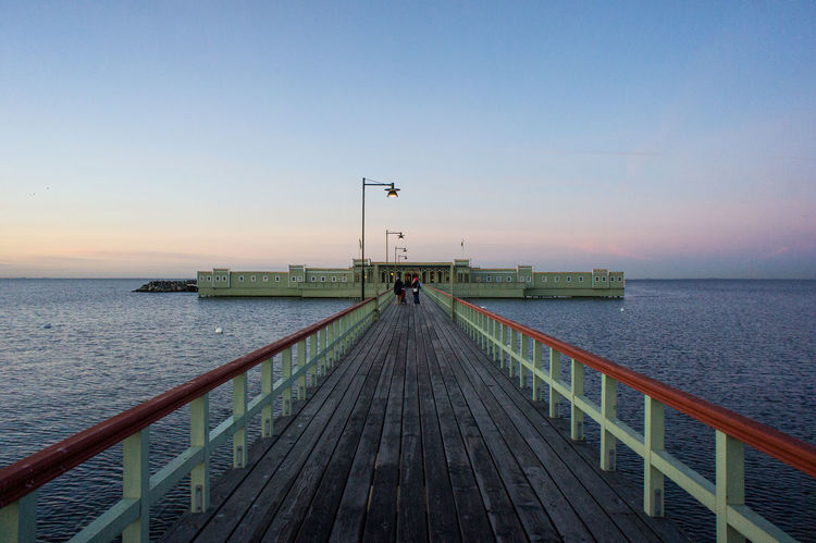 Ribban Ribbersborg Kallbad Malmö Skåne Sweden EyeEmNewHere Railing Transportation Sky Sea Clear Sky Horizon Over Water Water Sunset Silhouette Blue Travel Destinations Outdoors Flying People Nature Beauty In Nature Scenics Nautical Vessel Adult