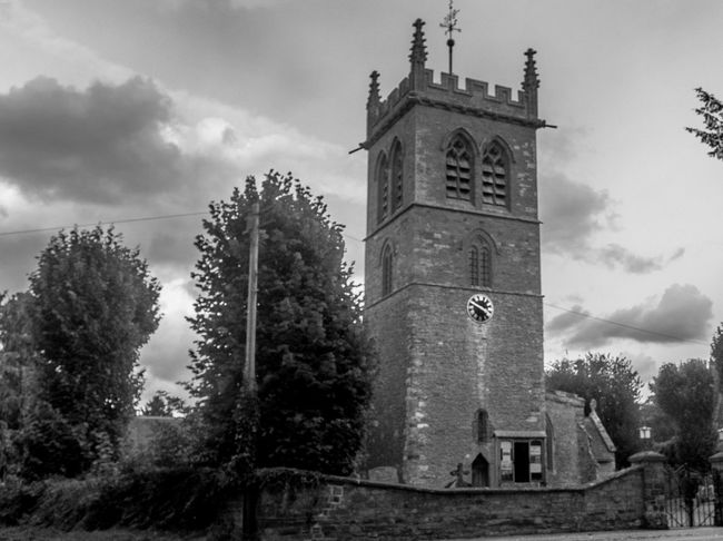 Saint Mary's Church, Gayton, Northamptonshire Black And White Architecture Village Chuches