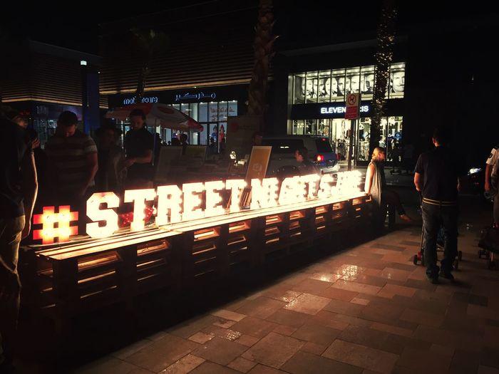 Streetphotography Street Night Mydubai The Traveler - 2015 EyeEm Awards Tadaa Community Streetart Dubai Traveling Ontheroad Urban Street Art Street Art/Graffiti
