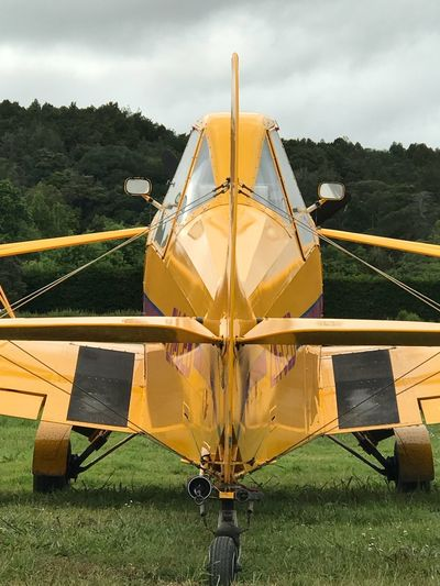 Aeropull Symmetrical Symmetry Prop Single Seater Airplane Rear Of Airplane Yellow Propeller Plane Gliding Aeroplane Airplane Day Outdoors Sky No People Nature Transportation
