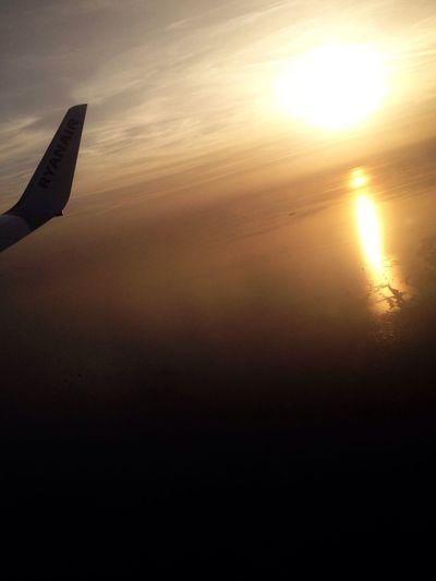 Sunset Mar Mediterraneo Flight to Malta Sea Sun Sky Me Around The World Travel Europe