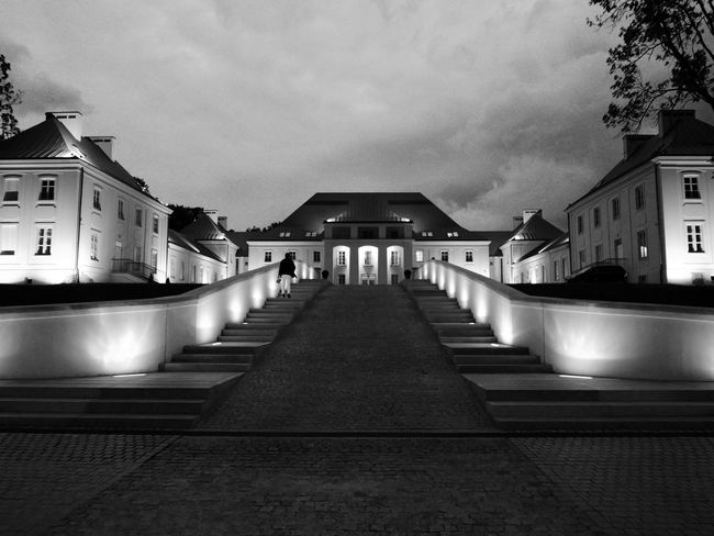 Poland Lumix Architecture Janowpodlaski Night Blackandwhite
