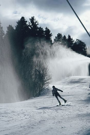 Skiing Snow Dancing