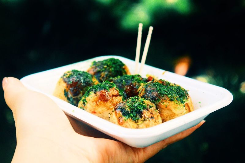 ShareTheMeal Meal Human Hand Food Ready-to-eat Healthy Eating Close-up Serving Size Food And Drink Takoyaki Sharing  Japanese Food Japan
