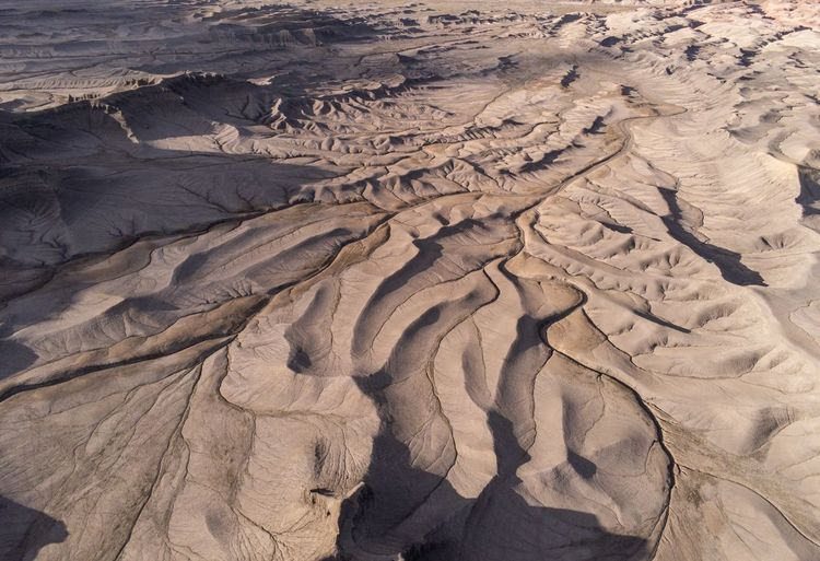 Wrinkles Utah USA Sand Land High Angle View Nature Pattern Sunlight Beauty In Nature Outdoors Desert Natural Pattern Landscape Scenics - Nature