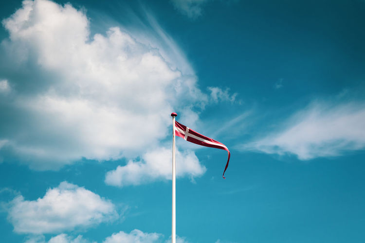 Denmark EyeEm Best Shots EyeEm Selects EyeEm Gallery Taking Photos Cloud - Sky Day Emotion Environment Eye4photography  Flag Freedom Independence Low Angle View National Icon Nature No People Outdoors Patriotism Pole Pride Red Sky Waving Wind