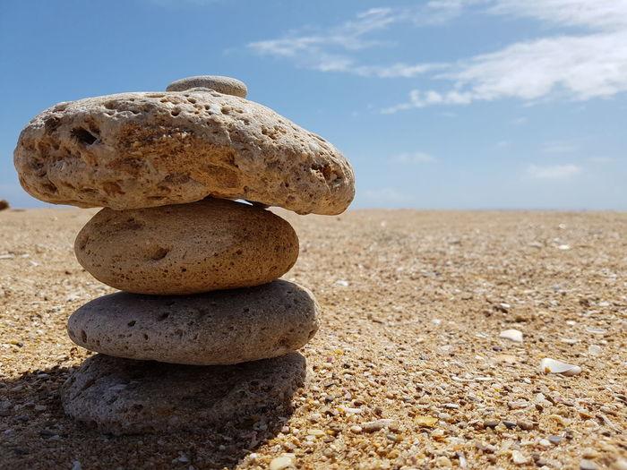 Beach Ocean Stones Beach And Sky Atlantic Ocean