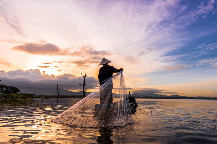 thai old tradition fisherman Water Sunset Beach Sea Reflection Sky Cloud - Sky Fishing Net Fisherman Catch Of Fish Fishing Pole Fishing Tackle Fishing Boat Commercial Fishing Net Fishing Industry Buoy Fishing Rod Fishing Fishing Equipment
