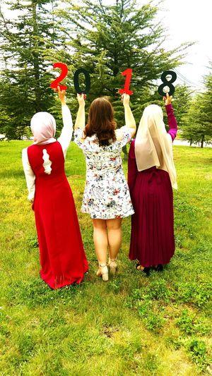2018 Graduation Mezuniyet Mezuniyet Töreni Arkadaşlık Friend 🎈👻 Sdümezuniyet Süleymandemirelüniversitesi Tree Togetherness Girls Red Full Length Friendship Rear View Traditional Clothing