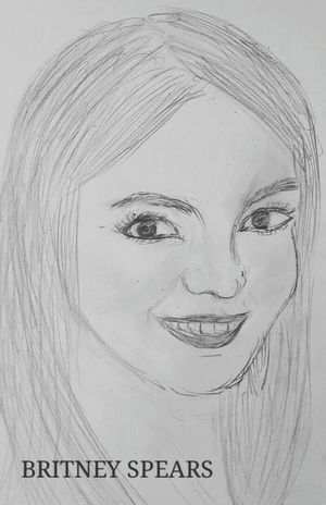 Britney Spears Drawing Portrait Black And White Do It Yourself Britney Spears : ~singer🎤 ~ age on the pic >19