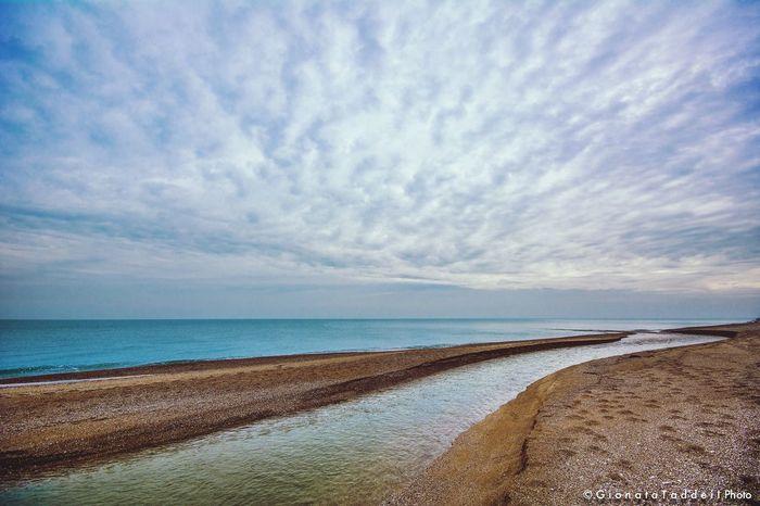 The river and sea Nature Sea And Sky Rivieradelconero Hello World Paesaggimozzafiato Marche Sky And Clouds