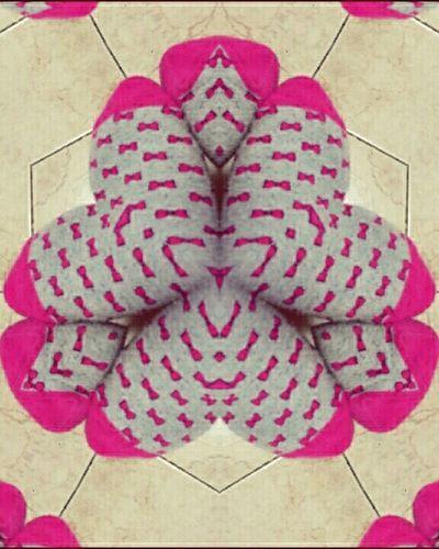 Foot Kaleidoscope Pink Geometric Abstraction Geometric Art Multiply