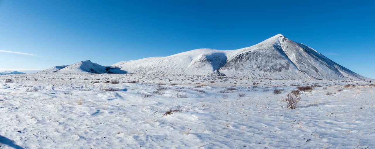 Beauty In Nature Blue Canada Clear Sky Cold Temperature Day Ice Desert Landscape Landscape #Nature #photography Landscape_Collection Landscape_photography Mountain Nature No People Outdoors Panorama Scenics Sky Snow Snowcapped Mountain Tranquil Scene Tranquility White Wilderness Area Yukon Territory