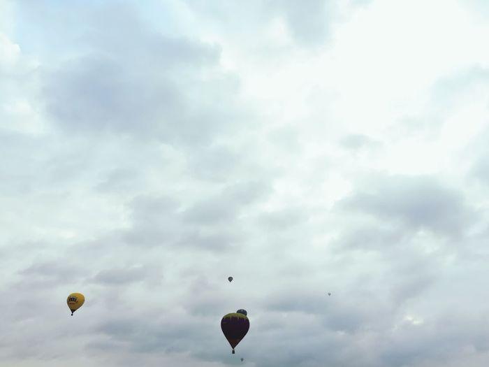 Clouds And Sky Clouds Cloud White Clouds Stratosphere Air Balloon Aeronautics Silhouette Silhouettes Silhouette_collection Silhoutte Photography Sky_collection Sky Cloud - Sky Air Vehicle Airshow Aerobatics