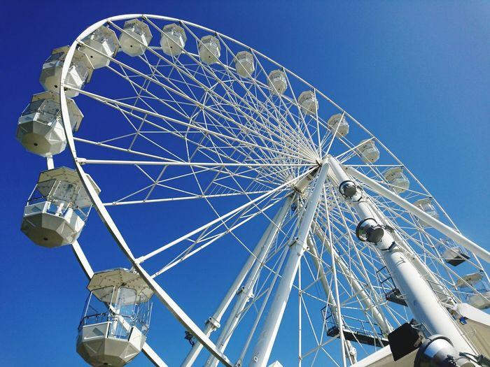 Big Wheel Ferris Wheel Sky Blue
