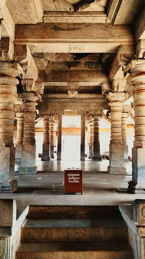 Thousand pillar temple Temple Architecture Indoors  Indianphotography Storiesofindia Indiaclicks TouristPlace Temple Cultures Incredible India Text Architecture Communication Built Structure Indoors  No People Low Angle View Travel Destinations Day