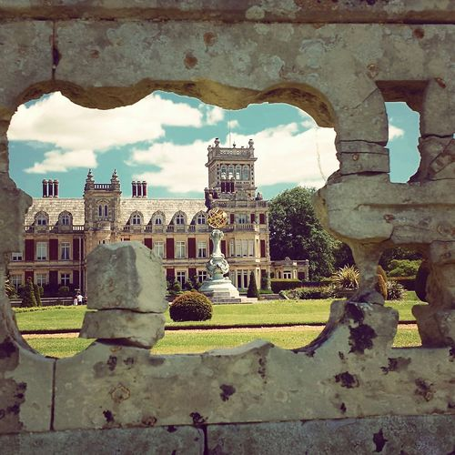 History Through The Lens  Mobilephotography Instagram Through A Hole Clouds And Sky Architecture Summer Beautiful Day Somerleyton Hall Grand
