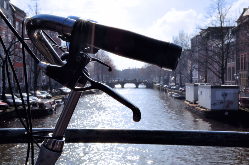 Up bike Amsterdam Canals City Water Tree River Metal Industry Sky Cloud - Sky Bridge - Man Made Structure Boat