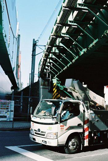 Contax G2 Kodak Portra 35mm Film Film Tokyo Shibuya Streetphotography Truck Urbanphotography