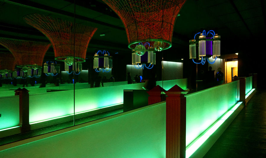 Architectural Column Architecture Built Structure Illuminated In A Row Indoors  Night No People Mirror Reflection Mirror Austria Loisium Österreich