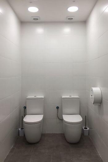 Empty seats in bathroom