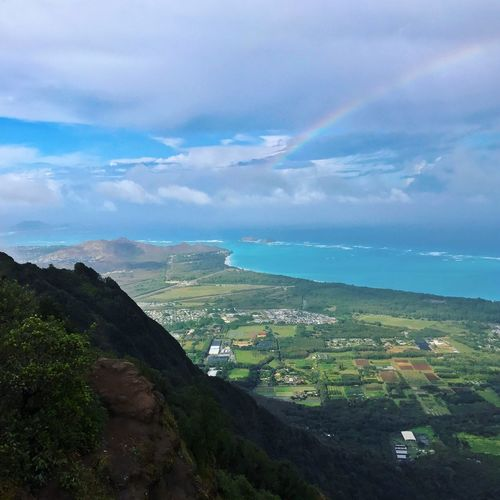 Kuliouou Trail Beauty In Nature Sky Mountain Scenics Landscape Nature Water Tranquil Scene Sea Day Outdoors No People Hike Beauty Amazingview Hawaii