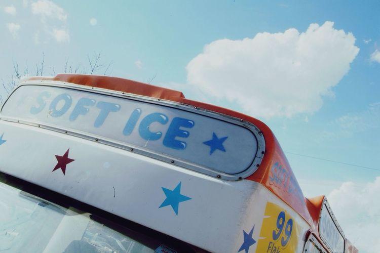 Ice cream bus on road