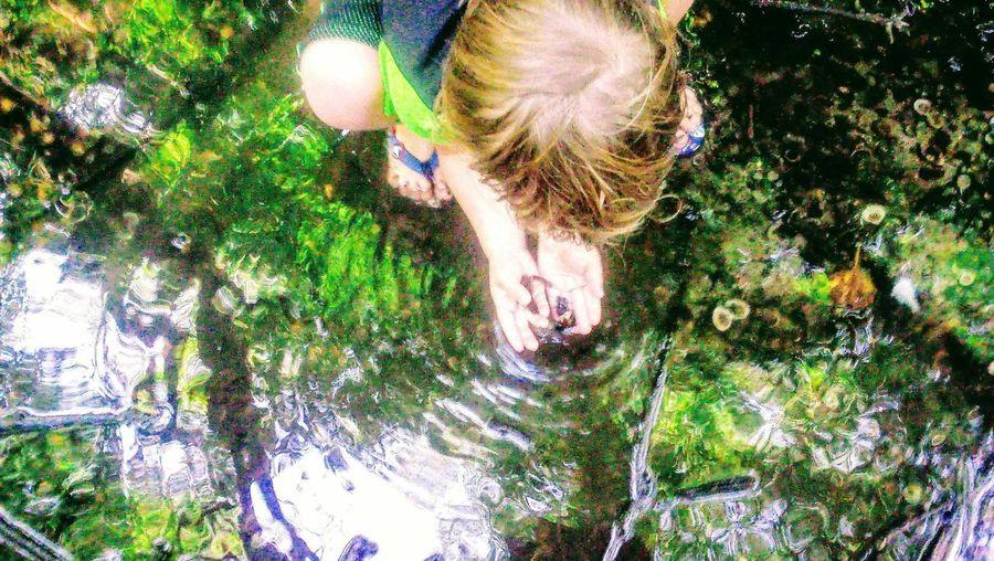 EyeEmNewHere Perspectives On Nature Be. Ready. . Boy In Creek Saving Fishys Boy Hero Creek Dried Up Livingcreaturelover