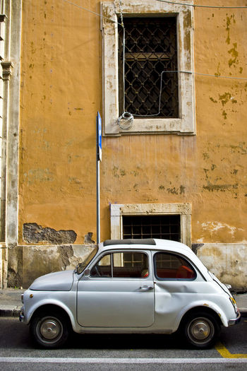 Check This Out EyeEm Best Shots EyeEmNewHere Fiat Moving Around Rome Roma Travel Architecture Building Exterior Built Structure Car Day Fiat500 Italy Land Vehicle Mode Of Transport No People Outdoors Stationary Transportation Travel Destinations