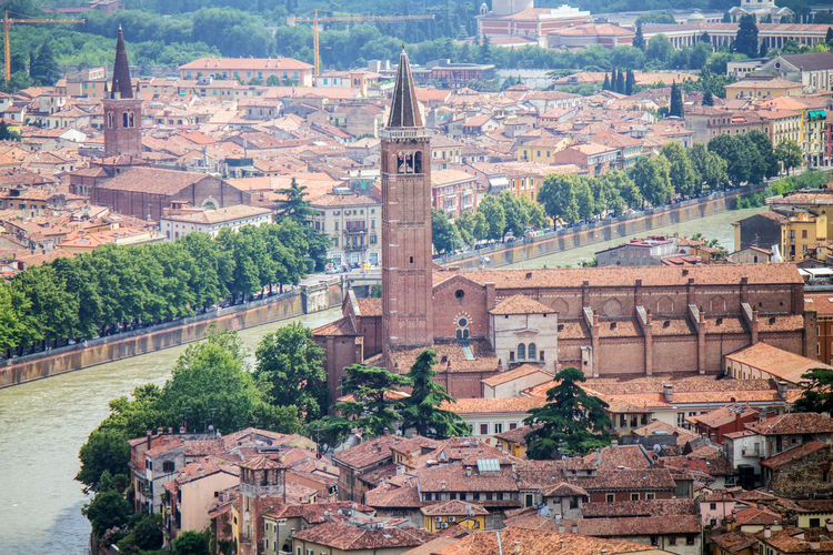 Altstadt Church Cityscape Italia Italien Kirche Old Town Verona Architecture Built Structure City Day Etsch Fluss Historic History Iglesia Italy Outdoors River Sant Anastasia Sant`anastasia Water Waterfront