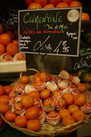 Blackboard  Clementine Food French Food Freshness Grocer Handwriting  Healthy Eating Indoors  Market No People Price Tag Retail  Text