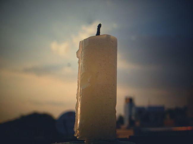 Candle Outdoors Nature Blue Sky Sun Cloud - Sky Thephotofactory Motog4plus