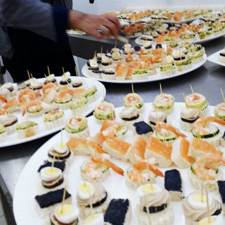 Hotels And Resorts Kitchen Art Amuse Bouche Caviar Shrimp Food And Baverage Food And Drink Food Ready-to-eat Freshness Plate Indulgence Serving Size Sushi Appetizer Healthy Eating Seafood Selective Focus Human Body Part Human Hand