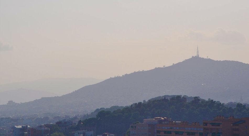 Parc del Guinardo Mountain Building Sky Outdoors Mountain Range Fog Spire  Communication Guinardo