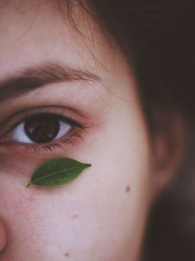 Plants are friends 🌱 Human Eye Close-up Real People One Person Looking At Camera Human Skin Human Body Part Portrait Indoors  Eyeball Day Leaf Nature Soft Art Is Everywhere TCPM The Great Outdoors - 2017 EyeEm Awards BYOPaper!
