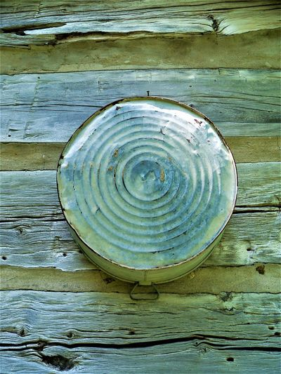 Cabin Life Antique Indiana Log Cabin Animal Shell Backgrounds Circle Close-up Day Directly Above Full Frame Geometric Shape Metal Tub Natural Pattern Nature No People Outdoors Pattern Shape Shell Still Life Table Textured  Wood Wood - Material Wood Grain