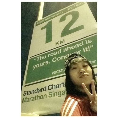 """The road ahead is yours. Conquer it."" Standard Chartered Marathon Singapore 2014. Medicassistant Volunteer"