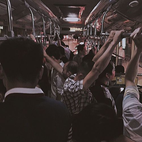 Daily Onmyway Men Chinese Hard Life Busy Night Summernight Bus