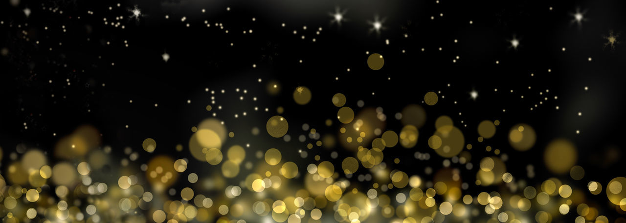 Golden Holidays Abstract Backgrounds Blur Lights Glowing Illuminated Night Pattern