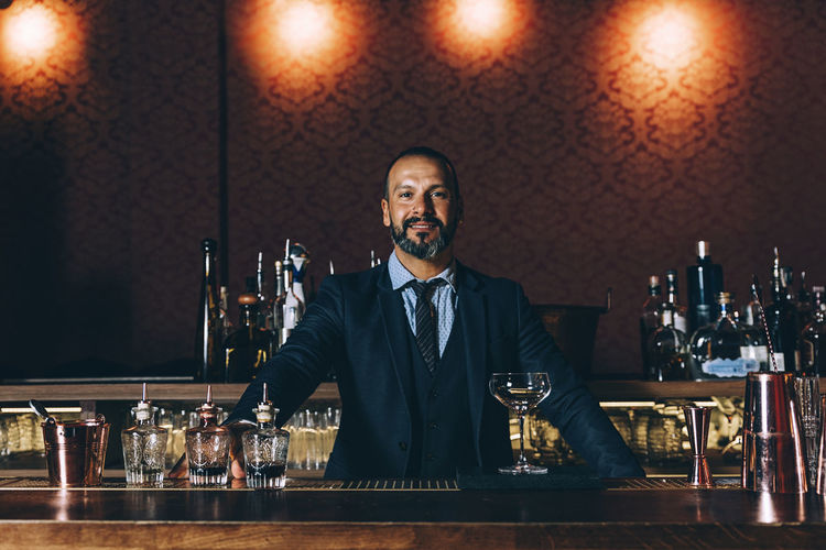 Portrait Of Mature Man In Bar