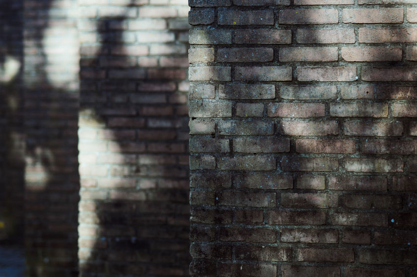 Brick Wall Architecture Backgrounds Brick Brick Wall Building Exterior Built Structure Close-up Day Focus On Foreground Full Frame Nature No People Old Outdoors Pattern Repetition Textured  Wall Wall - Building Feature Weathered The Architect - 2018 EyeEm Awards