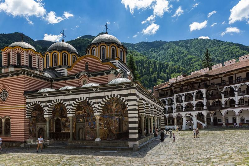 Rila Monastery Bulgaria Clouds And Sky Rila Mountain Travel Photography Travel Destinations Architecture Built Structure Sky Building Exterior Cloud - Sky Nature Plant Travel Travel Destinations History The Past Spirituality Building Tourism Religion