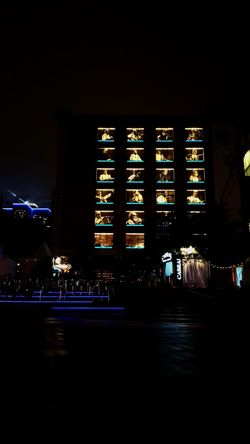 Night Illuminated Architecture Built Structure Travel Destinations City Cityscape Concert Hall  Nightlife Building Exterior No People Outdoors Politics And Government Popular Music Concert King - Royal Person Sky Community Togerherness Dance Music Place Des Festivals Building Lights Montréal Architecture