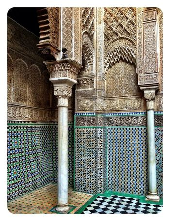 Columns Fes Morocco Mosaic Tiles Islam Beautiful IPhoneography Iphone 5