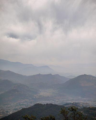 Cloud - Sky Mountain Range Landscape Travel No People Dramatic Sky Natural Phenomenon Nature Sarankoth Nepal Travel Photooftheday Tranquility Beauty In Nature Nature_collection Landscape_collection EyeEmNatureLover